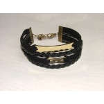 Gravírozható Fortuna karkötő fekete