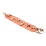 Rózsaszín csipkés karkötő
